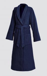 Frottier Bademantel mit Schalkragen für Damen und Herren Night blue