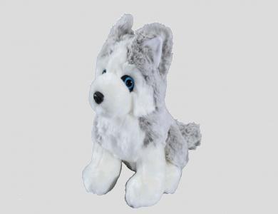 Eskimo Plüschtier Husky, silber