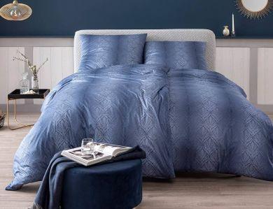 Estella Jersey Bettwäsche Juri nachtblau