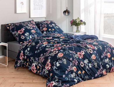 Estella Jersey Bettwäsche Laurena nachtblau