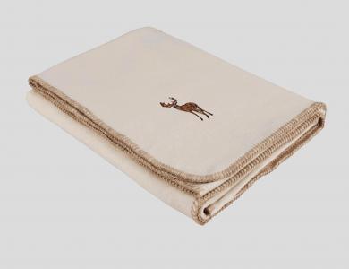 Eskimo Decke Luxusvelours Hirsch, beige