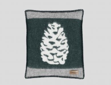 Eskimo Kissenhülle mit Füllung Pini, grau/grün