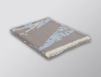 Eskimo Plaid Brissago fango/ciel