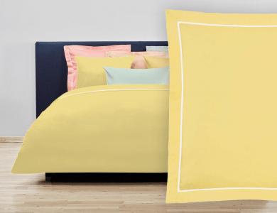 Fischbacher Balance Satin Bettwäsche hell gelb