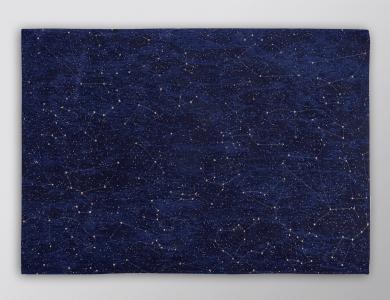 Christian Fischbacher Prêt-à-porter Teppich Celestial Midnight Blue