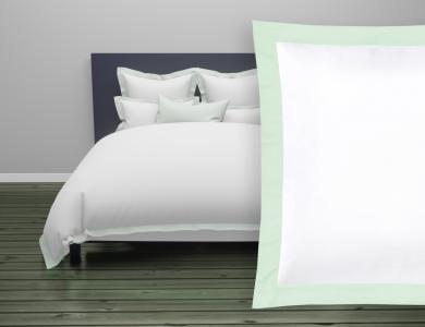 Fischbacher Color Frame Satin Bettwäsche mintgrün