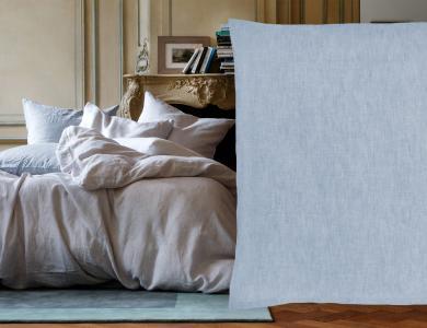 Christian Fischbacher Purolino Leinen Design, blau