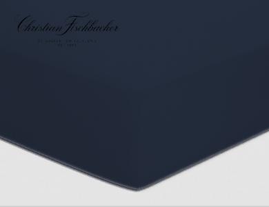 Christian Fischbacher Spannbettlaken Uni Jersey Nachtblau 861