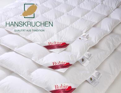 Hanskruchen Winter Daunendecke Rubin